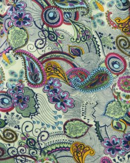 Funky Paisley cotton lawn dressmaking fabric // Holm Sown