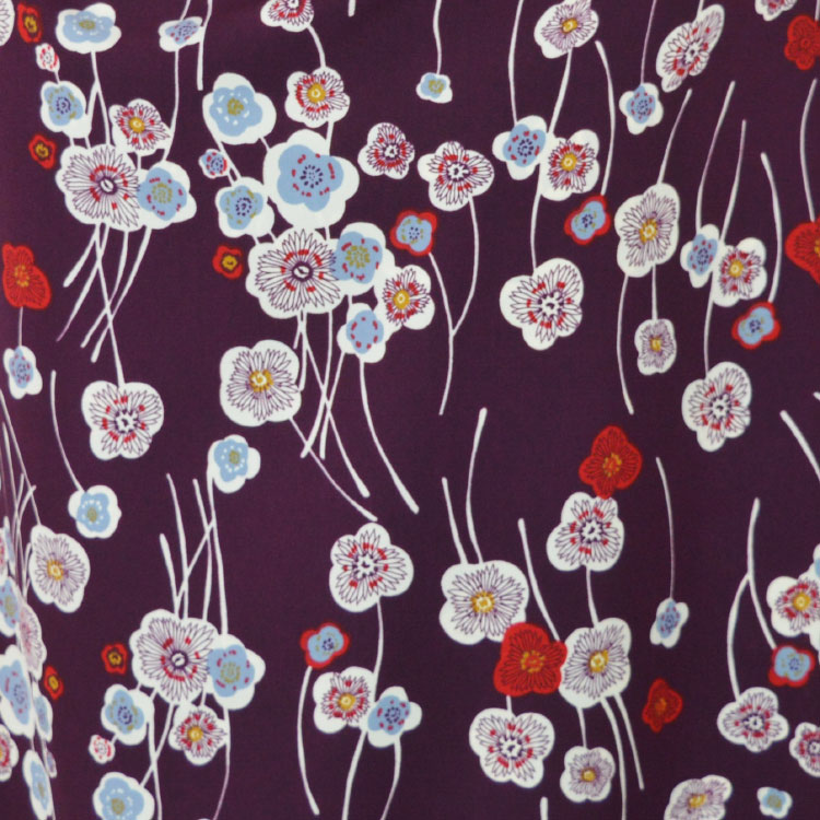 Libby Purple Polyester Crepe dressmaking fabric // Holm Sown