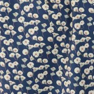 Lily navy blue cotton lawn dressmaking fabric // Holm Sown