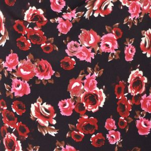 Ruby Roses Polyester Crepe dressmaking fabric // Holm Sown