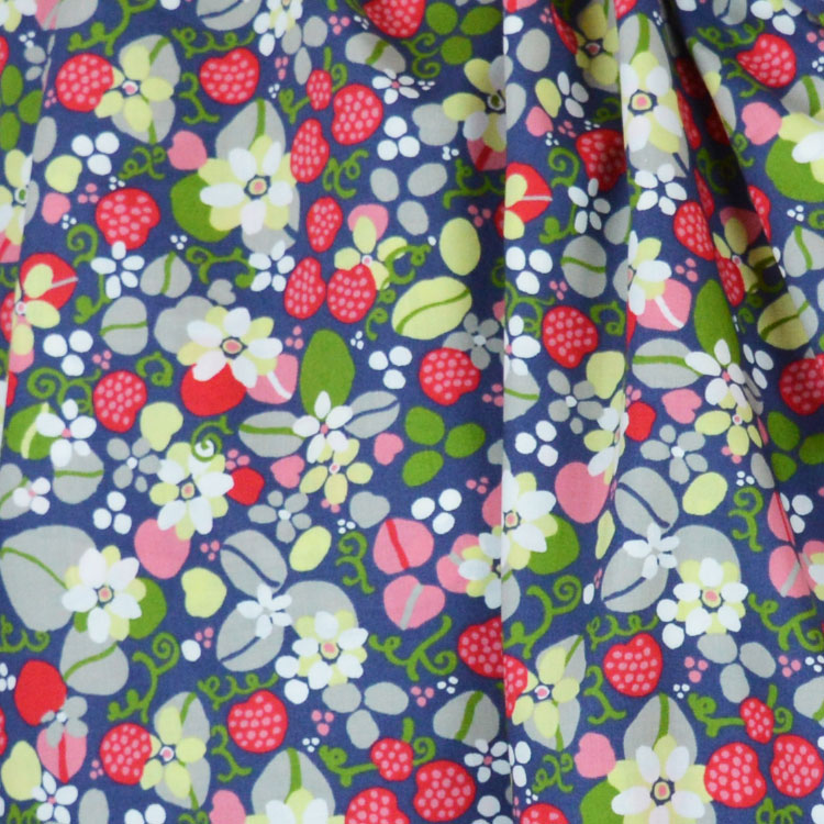 Strawberry Fields cotton lawn dressmaking fabric // Holm Sown