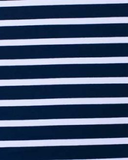 Lillestoff block stripes organic cotton jersey fabric - navy blue and white // scale // Holm Sown