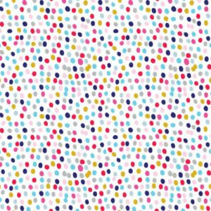 Dashwood Studio Flurry multi coloured spot fabric // Holm Sown