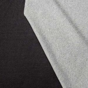 Lillestoff double sided cotton interlock jersey // black and grey marl // Holm Sown