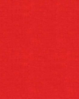 Makower Linen Texture cotton fabric // red // Holm Sown