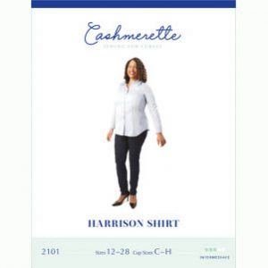 Cashmerette Harrison Shirt // Curvy Sewing Patterns // pattern envelope front // Holm Sown