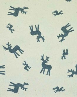 Christmas Reindeer cotton calico fabric   natural   Holm Sown