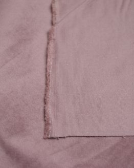 Cotton Velveteen fabric with stretch - wrong side | dusky pink | Holm Sown