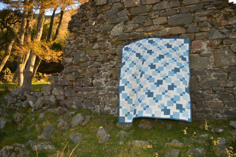 Home is where the heart is nine patch quilt | gable end | Holm Sown