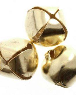 Jingle Bells 10mm Gold | pack of 9 | Holm Sown