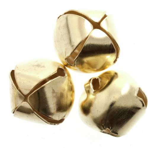 Jingle Bells 10mm Gold | pack of 9 | Holm Sown