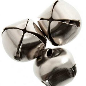 Jingle Bells 10mm Silver | pack of 9 | Holm Sown