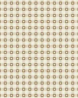 Makower Scandi Christmas cotton fabric   Check Natural   Holm Sown