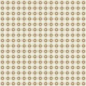 Makower Scandi Christmas cotton fabric | Check Natural | Holm Sown