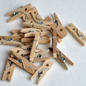 Mini Wooden Pegs - pack of 45 | Holm Sown