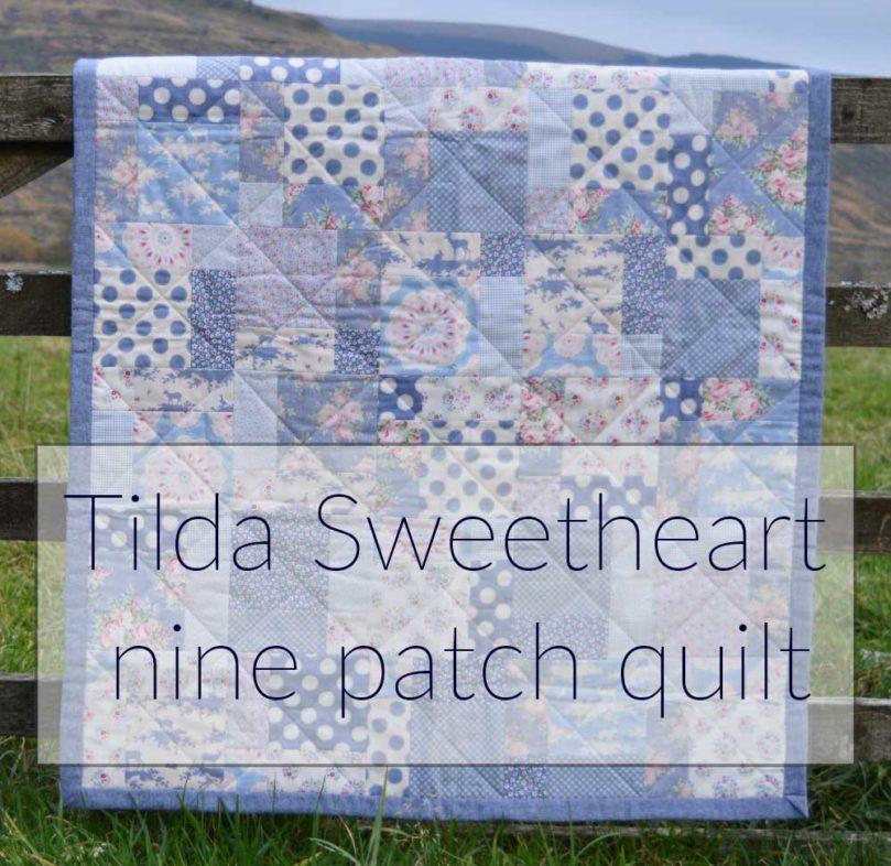 Tilda Sweetheart Nine Patch Quilt | Holm Sown
