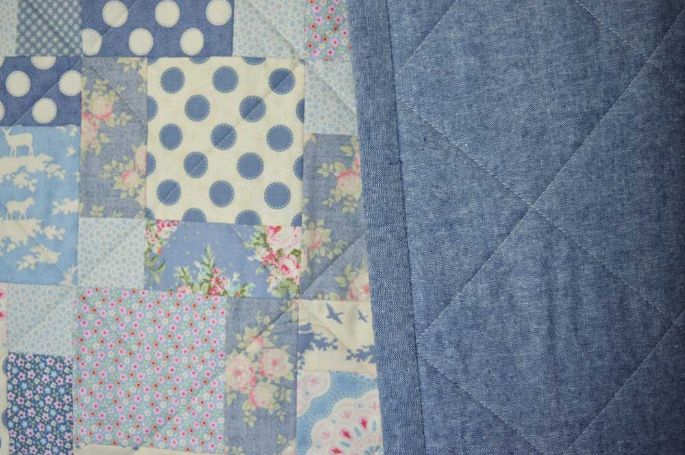 Tilda Sweetheart Nine Patch Quilt | Essex Linen backing and binding | Holm Sown
