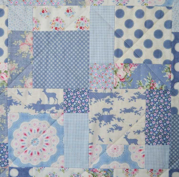 Tilda Sweetheart Nine Patch Quilt | block detail | Holm Sown