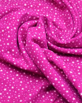 Star Needlecord cotton fabric | magenta / pink | Holm Sown
