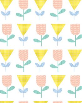 Floral Splendor by Cathy Nordstrom for Andover Fabrics // 50s Yellow // Holm Sown