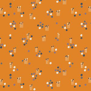 Floral Splendor by Cathy Nordstrom for Andover Fabrics // Meadow Orange // Holm Sown