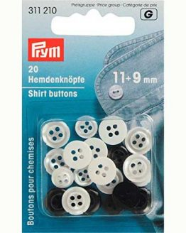 Prym Shirt Buttons 11mm and 9mm | pack of 20 | Holm Sown