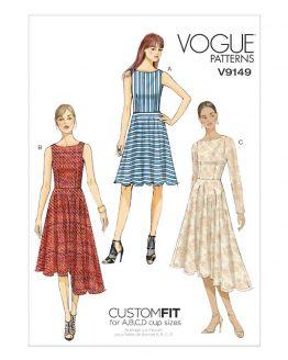 Vogue V9149 Misses Dress - Easy - Custom Fit   Sewing Pattern   Holm Sown