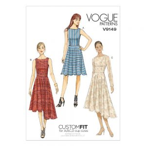 Vogue V9149 Misses Dress - Easy - Custom Fit | Sewing Pattern | Holm Sown