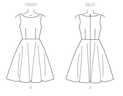 Vogue V9149 Line Drawing Version A | Holm Sown
