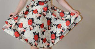 Vogue V9149 Swishy Party Dress   Red Poppy Cotton Poplin   Holm Sown