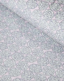 Liberty Roses Needlecord | Pale Pink and Grey | dressmaking fabric | Holm Sown