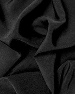 Peachskin Luxury Crepe Fabric - Black | Holm Sown