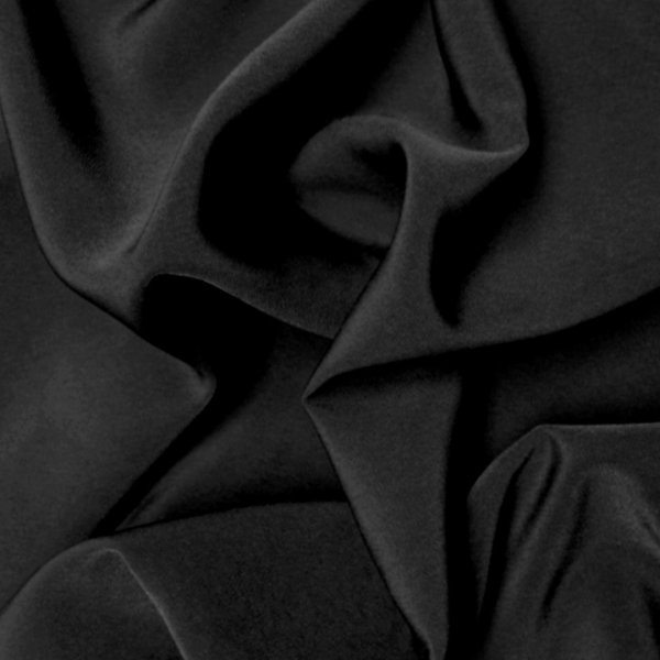 Peachskin Luxury Crepe Fabric - Black | Holm Sown