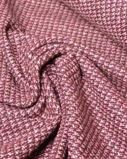 Tweed Coating Pink and Burgundy - Wool Blend - dressmaking fabric | Holm Sown