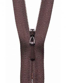 YKK Concealed Invisible Zip - Brown   Holm Sown