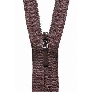 YKK Concealed Invisible Zip - Brown | Holm Sown