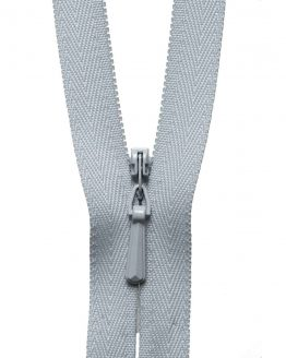 YKK Concealed Invisible Zip - Light Grey   Holm Sown