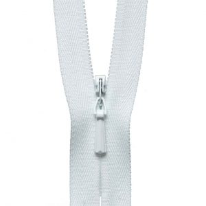 YKK Concealed Invisible Zip - White | Holm Sown