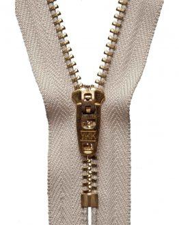 YKK Metal Jeans Zip Brass - Beige | Holm Sown