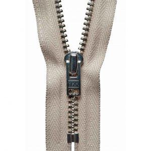 YKK Metal Jeans Zip Nickel - Beige | Holm Sown