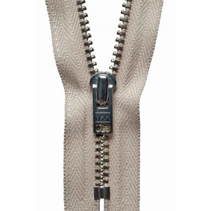 YKK Metal Jeans Zip Nickel - Beige | Holm Sown