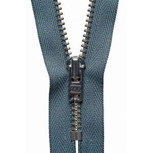 YKK Metal Jeans Zip Nickel - Dark Grey | Holm Sown