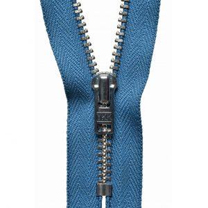 YKK Metal Jeans Zip Nickel - Slate Blue | Holm Sown