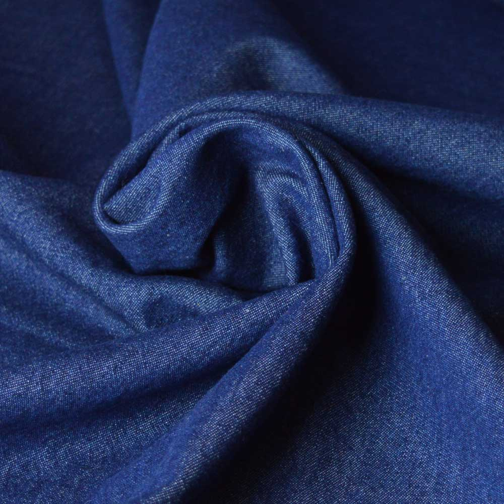 7.5oz Washed Denim – indigo blue | Dressmaking fabrics | Holm Sown