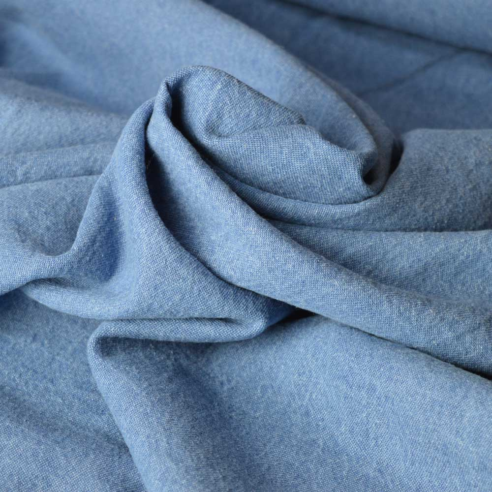 7.5oz Washed Denim – light blue |  Dressmaking fabrics | Holm Sown