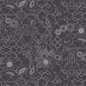 Sun Print Overgrown Raven | Quilting cotton | Holm Sown