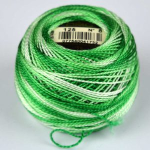 DMC Perle Cotton #8 Thread - 125 green (variegated) | Holm Sown