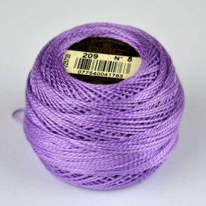 DMC Perle Cotton #8 Thread - 209 lilac | Holm Sown