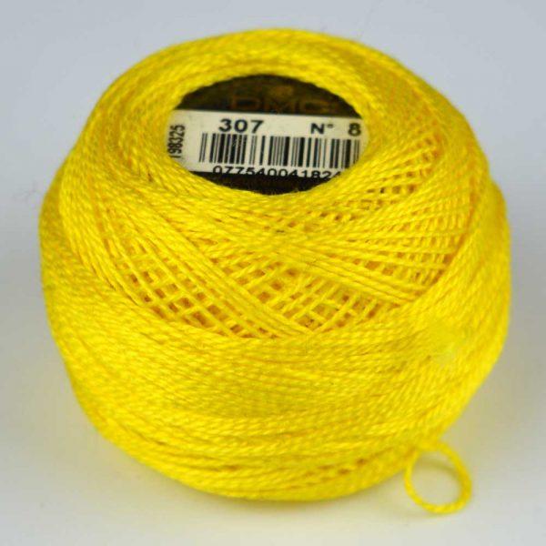 DMC Perle Cotton #8 Thread - 307 banana | Holm Sown