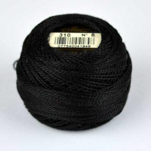 DMC Perle Cotton #8 Thread - 310 black | Holm Sown
